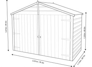 7X3 Shiplap Wooden Bike Store Blooma Dimensions