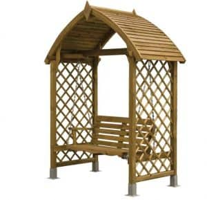 Barmouth Wooden Swing Seat Unpainted