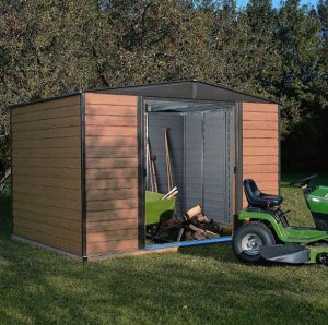 Base Rowlinson Woodvale Metal Shed 10 x 6 Overall Appearance