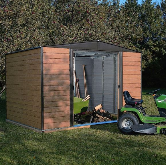 10' x 12' Rowlinson Woodvale Metal Apex Shed - Includes Floor & Installation