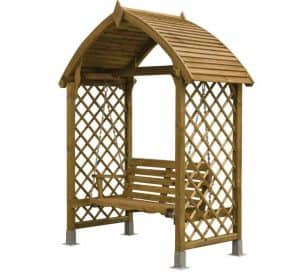 Blooma Barmouth Timber Swing Arbour Unpainted