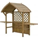 Blooma Barmouth Wooden BBQ Arbour with side holder