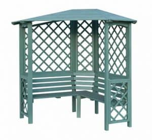 Blooma Chiltern Painted Willow Corner Arbour