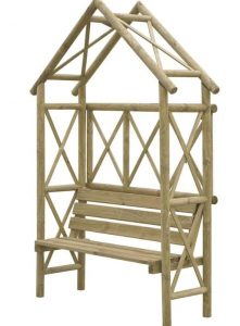 Blooma Cottage Wooden Arbour Skeleton