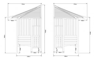 Blooma Solway Wooden Corner Arbour Dimensions