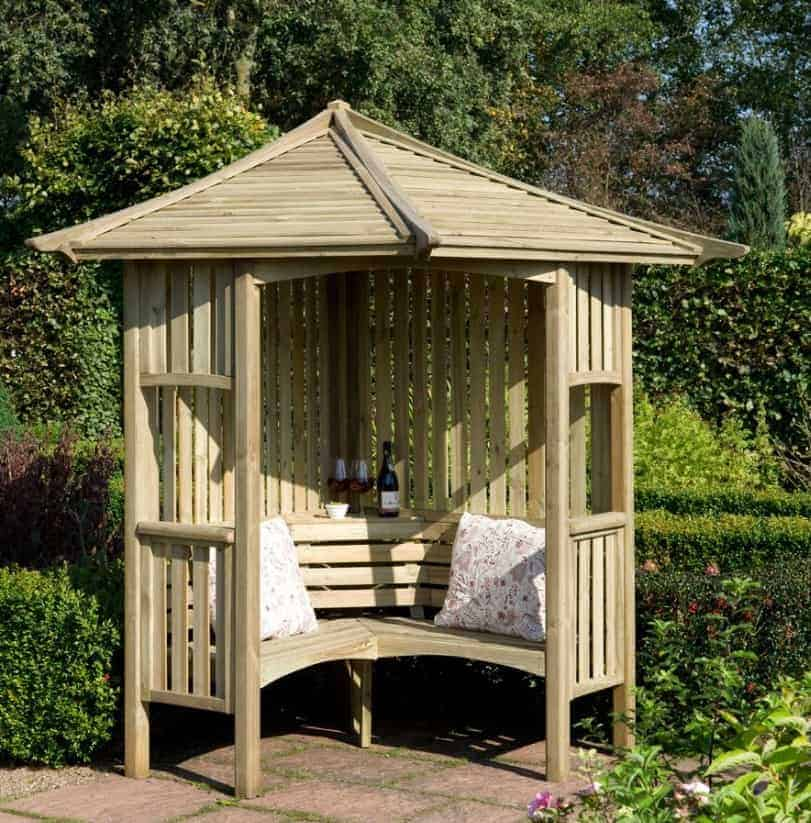 Blooma Solway Wooden Corner Arbour What Shed