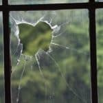 Broken greenhouse glass
