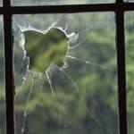 Broken greenhouse glass