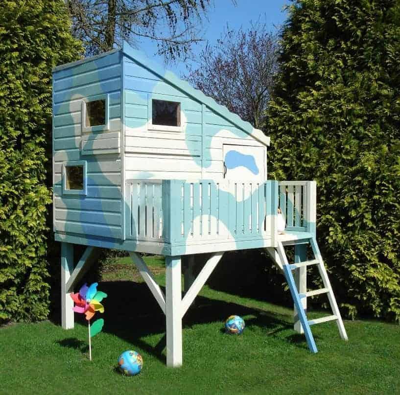 Command Post 6X4 Playhouse Blue Camo Colour
