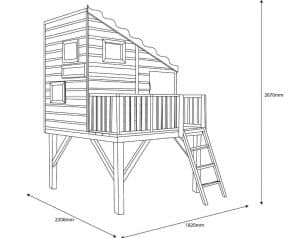 Command Post 6X4 Playhouse Dimensions