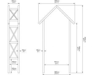 Cottage Wooden Arch With Assembly Service Dimensions