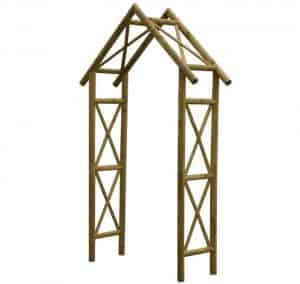 Cottage Wooden Arch With Assembly Service Skeleton