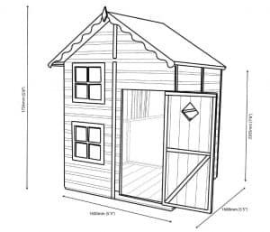 Croft 5X5 Playhouse Dimensions