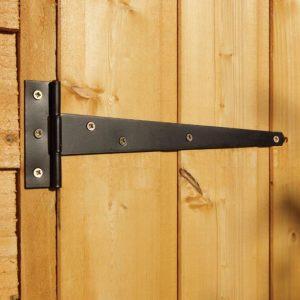 Double Door Overlap Wooden Shed with Four Windows Door