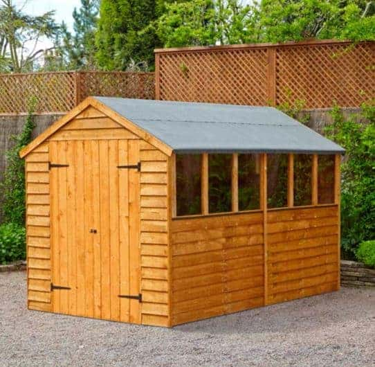 Double Door Overlap Wooden Shed With Four Windows What Shed