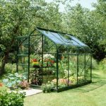 Green Curve Frame Greenhouse