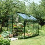 Green Curve Frame Greenhouse