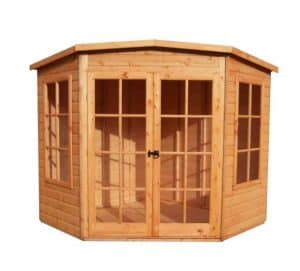 Hampton 7X7 Shiplap Timber Summerhouse Unpainted