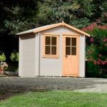 Hartley 8X6 Tongue And Groove Timber Log Cabin With Assembly Service Dual Tone Colour