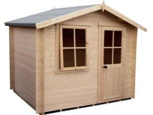 Hartley 8X6 Tongue And Groove Timber Log Cabin With Assembly Service Unpainted