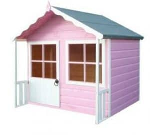 Kitty Shiplap Wooden Playhouse Side View
