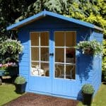 Lumley 7X5 Shiplap Timber Summerhouse Closed Doors