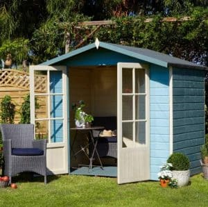 Lumley 7X5 Shiplap Timber Summerhouse Double Open Doors
