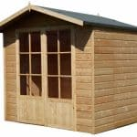 Lumley 7X5 Shiplap Timber Summerhouse Unpainted