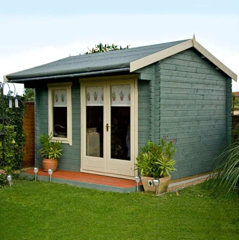 Marlborough 10x10 28mm tongue groove timber log cabin for Garden shed 10x10