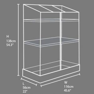 Palram Plastic Grow Station Dimensions