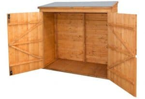 Rowlinson's Wooden Garden Wall Store Double Doors Open