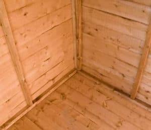 Shire Blenheim Shiplap Wooden Summerhouse with Bi-Fold Doors Flooring and Cladding