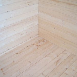 Shire Cannock Wooden Log Cabin Overall Wall and Flooring