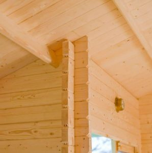 Shire Elveden Log Cabin 26X14 Wall and Ceiling