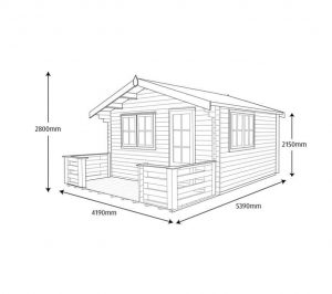 Shire Kinver Wooden Log Cabin Dimensions