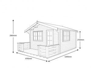 Shire Kinver Wooden Log Cabin Dimensions