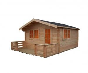 Shire Kinver Wooden Log Cabin Unpainted