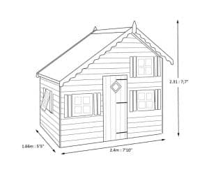 Shire Loft 8X6 Playhouse Dimensions