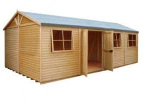 Shire Mammoth Wooden Shed Workshop 10 x 20 Overall Appearance