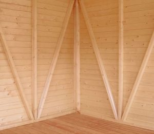 Shire Mammoth Wooden Shed Workshop 10 x 20 Wall Flooring
