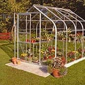 Silver Frame Curved Greenhouse