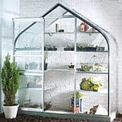 Silver Wall Mounted Greenhouse