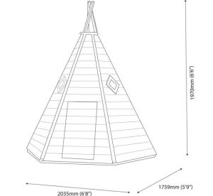 Wigwam 7X6 Playhouse Dimensions