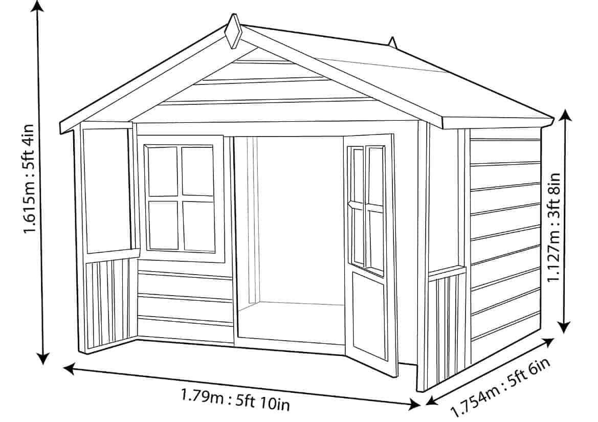 Woodbury 6x4 Playhouse What Shed