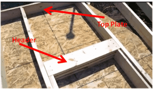 Connecting roof of shed to walls
