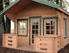 Log cabin shed design