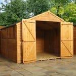 10' x 10' Standard Overlap Apex Modular Wooden Workshops