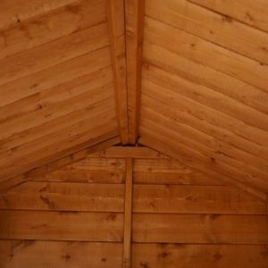 10' x 8' Double Door Shiplap Tongue and Groove Apex Shed Roofing