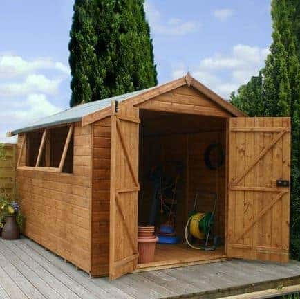 10' x 8' Double Door Shiplap Tongue and Groove Apex Shed