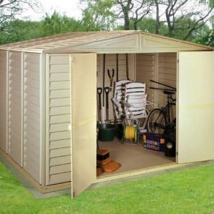 10' x 8' Duramate Woodbridge Steel Framed Vinyl Plastic Clad Metal Shed